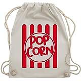 Shirtracer Karneval & Fasching - Popcorn Karneval Kostüm - Unisize - Naturweiß - popcorn turnbeutel - WM110 - Turnbeutel und Stoffbeutel aus Baumwolle