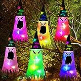 Halloween-Ornament, Hexenhut, 6 Stück, LED-Geister, hängende Dekoration