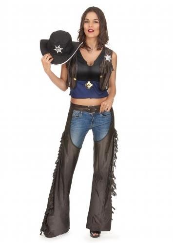 Cowboy-Cowgirl-Kostüm-Damen