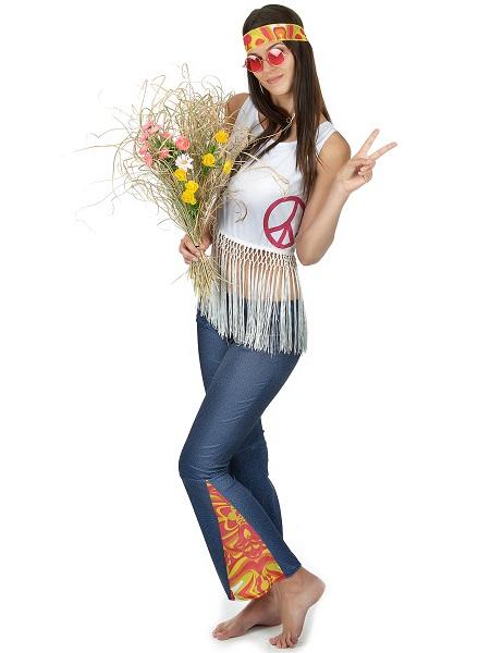 Faschingskostüm-für-Damen-Hippie