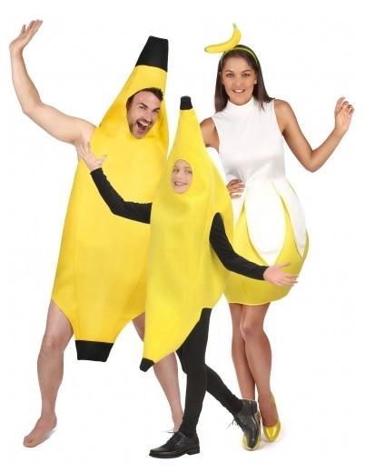 Gruppenkostüm-Fasching-Karneval-Halloween-Banane-3-Personen