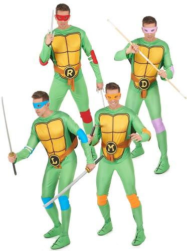 Gruppenkostüm-Fasching-Karneval-Halloween-Ninja-Turtles-4-Personen