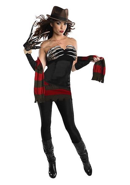 Halloween-Kostüm-Damen-Freddy-Krüger