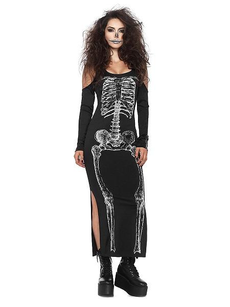 Halloween-Kostüm-Damen-Skelett