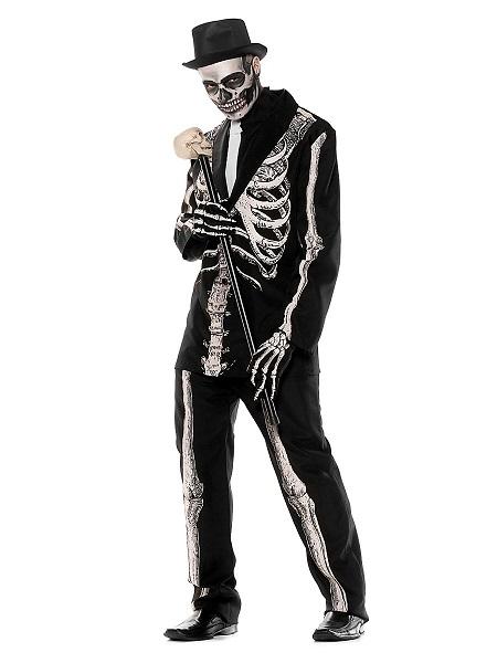 Halloween-Kostüm-Herren-Skelett