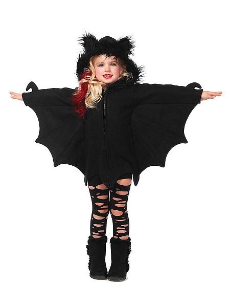 Halloween-Kostüm-Kinder-Mädchen-Jungen-Fledermaus
