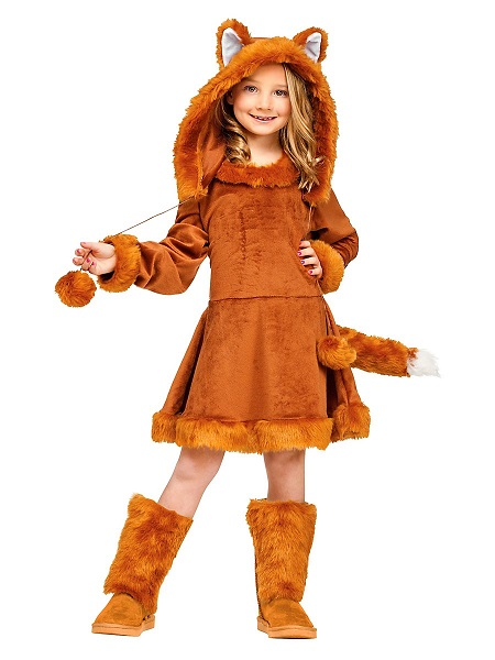 Faschingskostüm-Karnevalskostüm-Kinder-Fuchs-Mädchen-Kinderkostüm