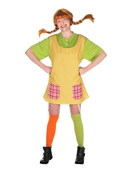 Kindheitshelden-Kostüm-Pippi-Langstrumpf-Damen