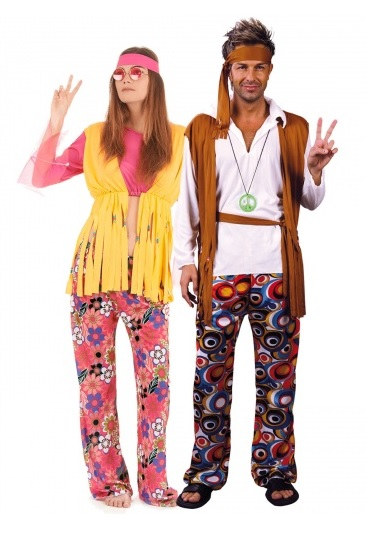Partnerkostüm-Pärchen-Paar-Kostüm-Hippie