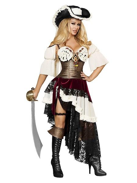 Piratin-Kostüm-Piratenkostüm-Damen-Frauen-Erwachsene