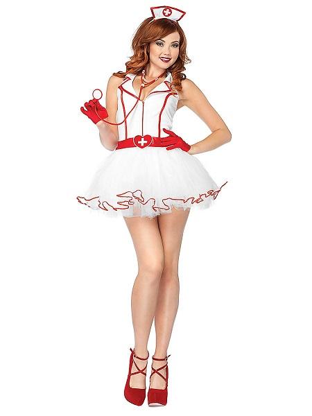 Sexy-Kostüm-Damen-Krankenschwester