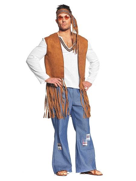 70er-Jahre-Hippie-Kostüm-Herren-Männer-Erwachsene