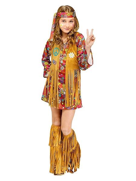 70er-Jahre-Hippie-Kostüm-Kinder-Mädchen