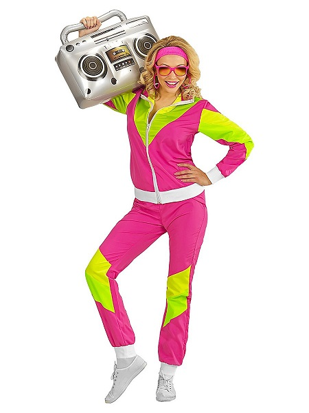 Bad-Taste-Outfit-Damen-Frauen-Erwachsene-Aerobic-Trainingsanzug
