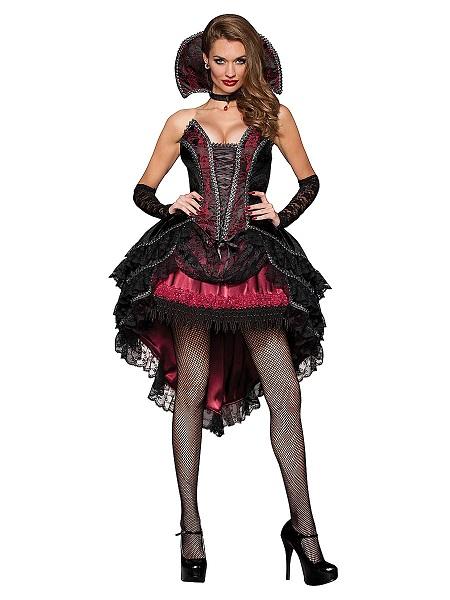 Halloween-Kostüm-Outfit-Vampir-Kostüm-Damen-Frauen-Erwachsene