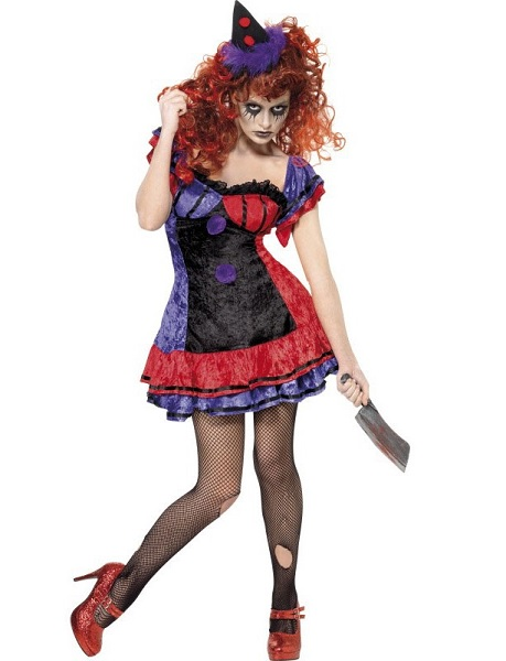 Horrorclown-Kostüm-Damen-Frauen-Erwachsene