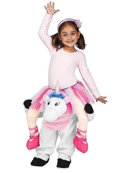 Lustiges-Kostüm-Kinder-Mädchen-Einhorn-Huckepack-Carry-Me-Kostüm