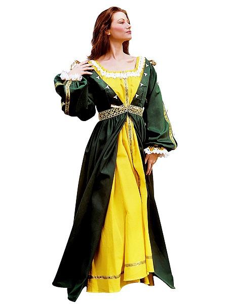 Mittelalter-Kostüm-Damen-Prinzessin