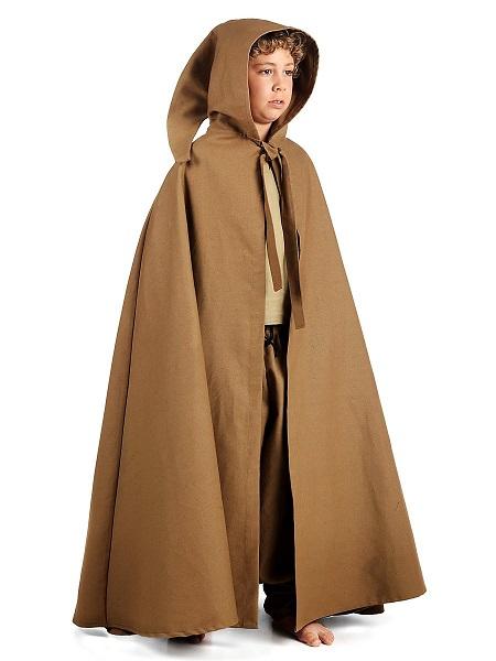 Mittelalter-Kostüm-Kinder-Umhang-Kutte-Mantel