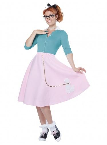 Mottoparty-Ideen-50er-Jahre-Rockabilly-Kleid-Kostüm-