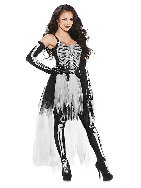 Skelett-Kostüm-Damen-Frauen-Erwachsene