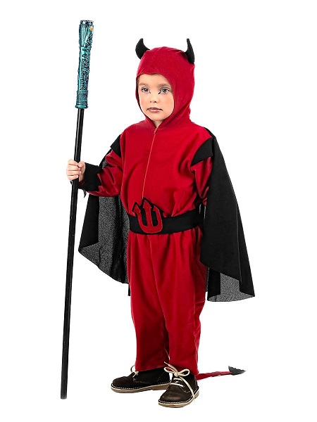 Teufel-Kostüm-Kinder-Jungen-Mädchen