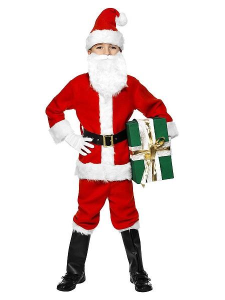 Weihnachtskostüm-Kinder-Santa-Clause