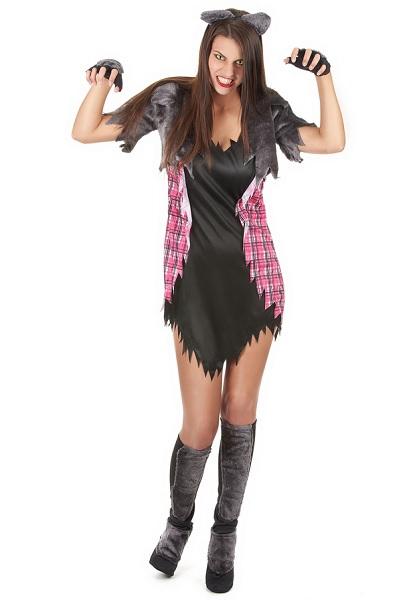 Werwolf-Kostüm-Damen-Frauen-Erwachsene