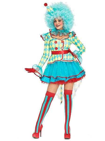 Zirkus-Kostüm-Damen-Frauen-Clown-Erwachsene