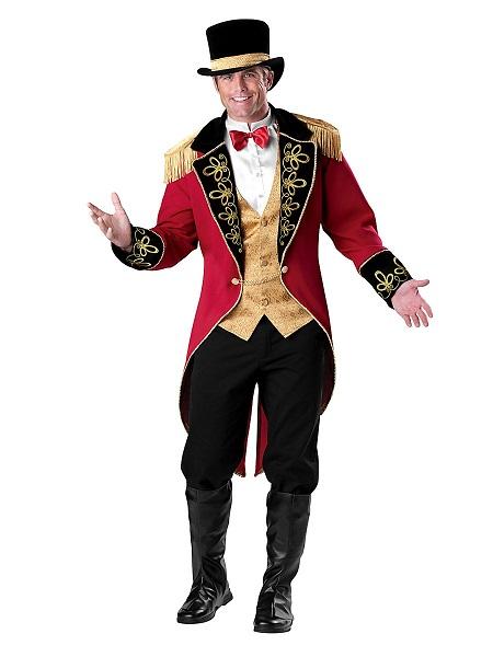 Zirkus-Kostüm-Herren-Männer-Zirkusdirektor-Dompteur