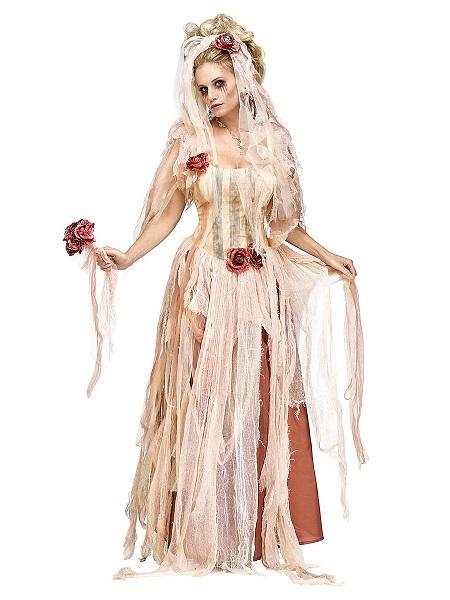 Zombie-Braut-Kostüm-Damen-Frauen-Erwachsene