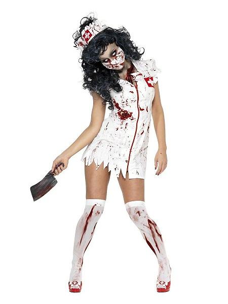 Zombie-Kostüm-Damen-Krankenschwester-Frauen-Erwachsene