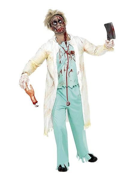 Zombie-Kostüm-Herren-Arzt-Chirurg-Männer