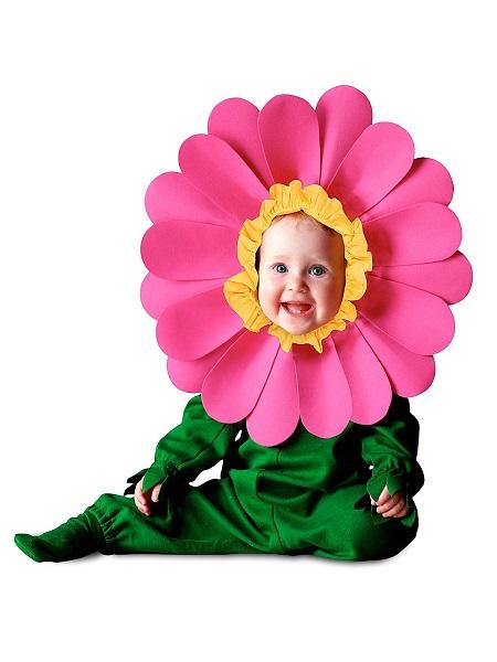 Baby-Kostüm-Kleinkind-Kinder-Blume