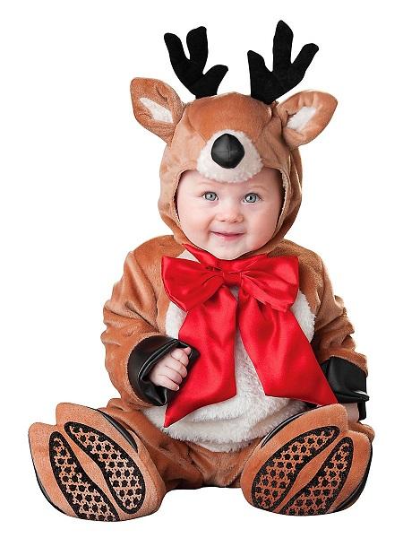 Baby-Kostüm-Kleinkind-Kinder-Rentier