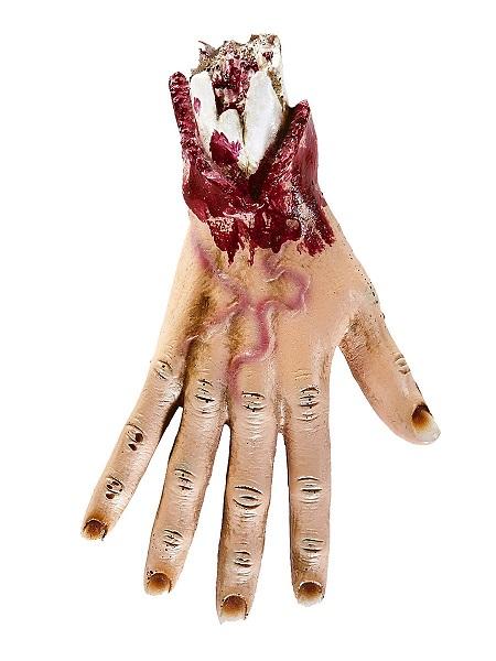 Halloween-Deko-Hand-blutig