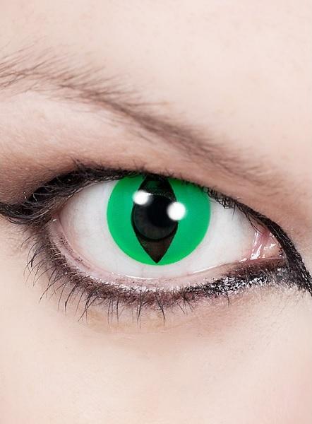 Halloween-Kontaktlinsen-grün-Katzenauge
