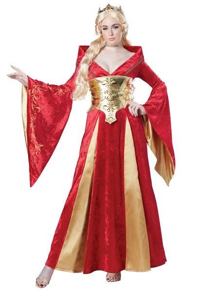 Königin-Kostüm-Damen-Frauen-Erwachsene