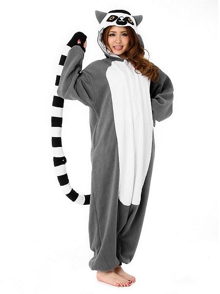 Kigurumi-Kostüm-Lemur-Damen-Frauen-Erwachsene