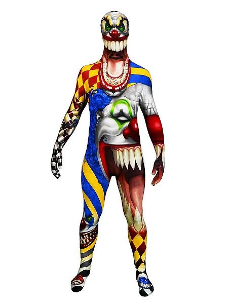 Morphsuit-Horror-Clown-Ganzkörperkostüm-Ganzkörperanzug