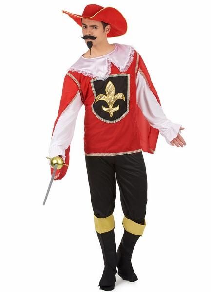 Musketier-Kostüm-Herren-Männer-Erwachsene