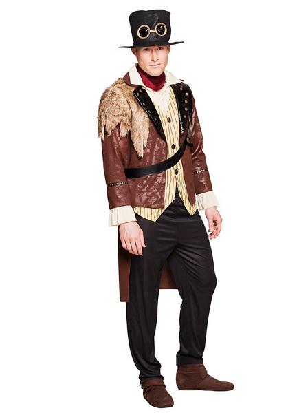 Steampunk-Kostüm-Herren-Männer-Erwachsene-braun-schwarz