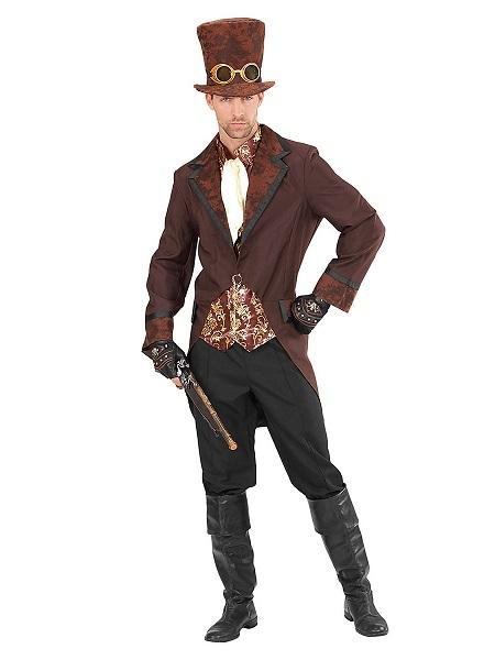 Steampunk-Kostüm-Herren-Männer-Erwachsene-braun