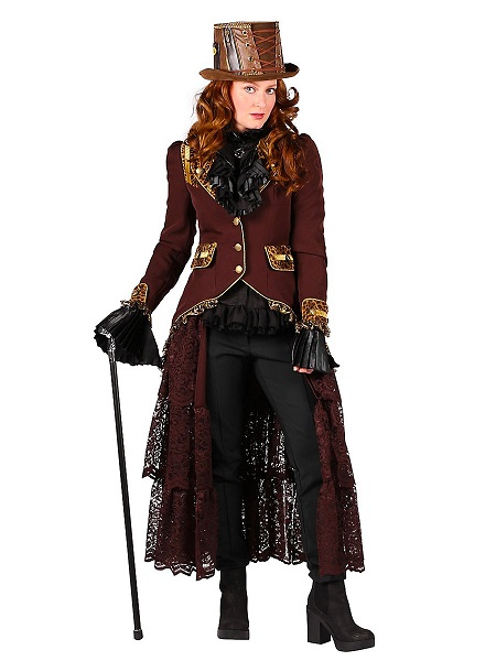 Steampunk-Kostüm-Kleid-Damen-Frauen-Erwachsene