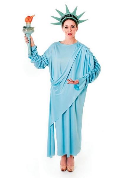 Freiheitsstatue-Kostüm-Damen-Frauen-Erwachsene