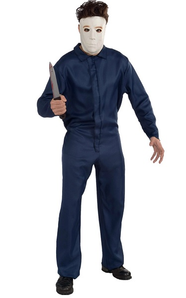 Michael-Myers-Kostüm-Herren-Erwachsene-blau