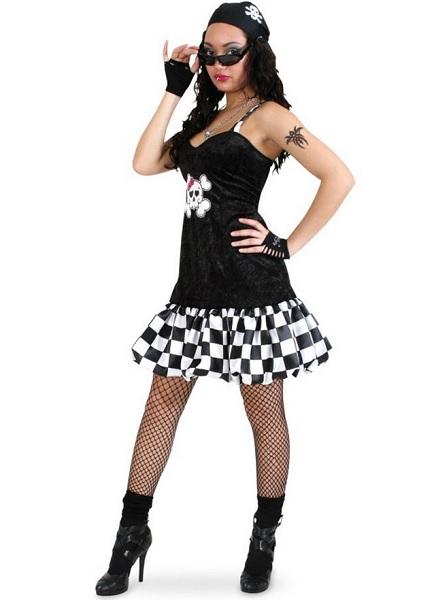 Rocker-Kostüm-Damen-Rockstar-Kostüm-Frauen-Erwachsene