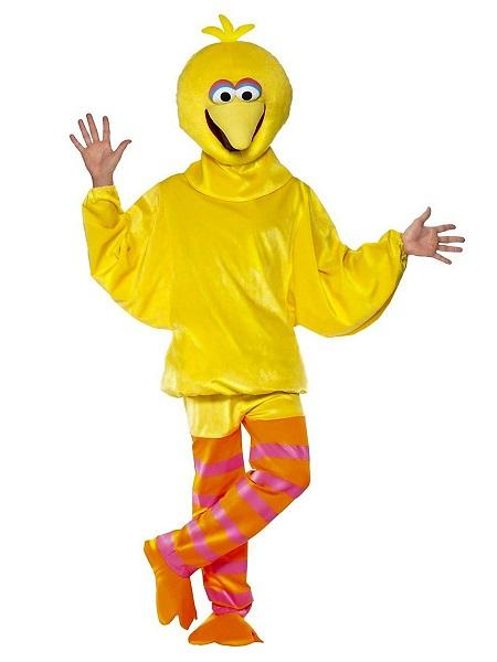 Sesamstraße-Kostüm-Bibo-Erwachsene-Damen-Herren