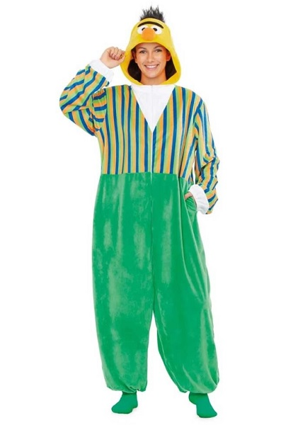 Sesamstraße-Kostüm-Ernie-und-Bert-Kostüm-Damen