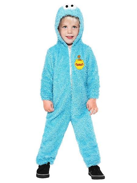 Sesamstraße-Kostüm-Krümelmonster-Kinder-Jungen-Mädchen